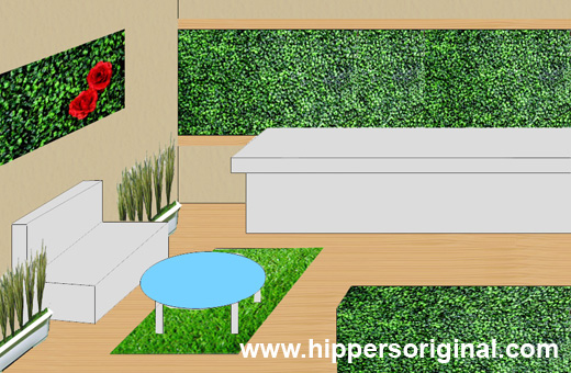 Hippers Original Featured Article Renovation Decoration Ideas With Artificial Grass For Wall Hedge